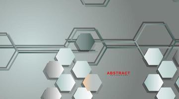 abstract vector achtergrond van een zeshoekige geometrische muur