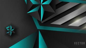 abstracte geometrische blauwe en zwarte achtergrond vector