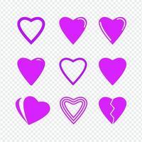 hart liefde pictogram ontwerpsjabloon vector geïsoleerde illustratie
