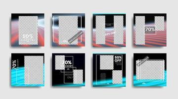 moderne promotie vierkante webbanner voor sociale media vector ontwerp illustratie