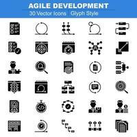 agile ontwikkeling pictogrammen glyph