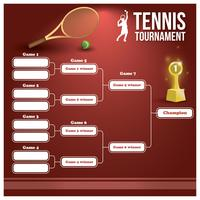 Tennistoernooi beugel vector