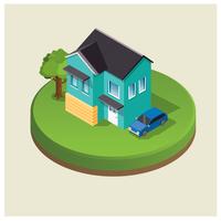 Isometrische huisontwerp vector
