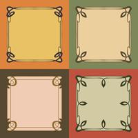 Vintage Art Nouveau-kaders Decoratieve randen Stijlelementen