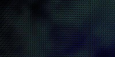 donkerblauwe, groene vectorlay-out met lijnen. vector