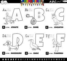 educatief alfabet letters kleurboek voor kinderen