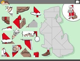 puzzelgame met het karakter van de kerstman vector