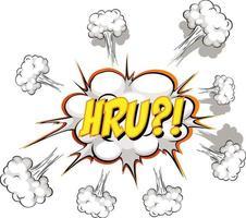komische tekstballon met hru-tekst vector