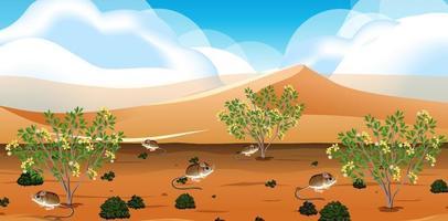 wild woestijnlandschap bij daglicht vector