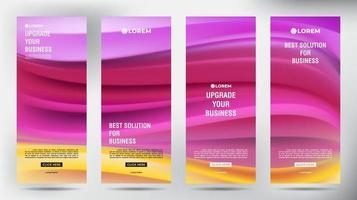 mesh kleur stroom oprollen zakelijke brochure flyer banner set vector