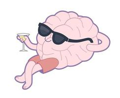 ontspannen met een glas vermout, hersencollectie vector