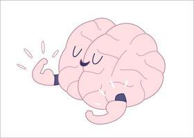 kampioen geschetst, train je hersenen. vector