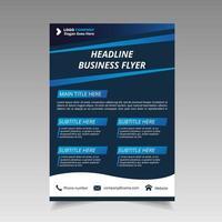 abstract kleurovergang blauw business flyer sjabloon mooi ontwerp