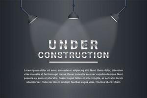 onder constructie plek lichte achtergrond