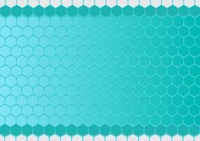 moderne zeshoek achtergrond. blauwe zeshoekige achtergrond voor bedrijfspresentatie. vector