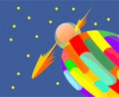 Planeet en sterren vector