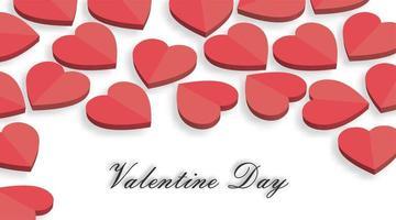 Valentijnsdag achtergronden. hart 3d vector ontwerp illustratie