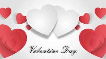 Valentijnsdag achtergronden. ontwerp vectorillustratie. papier gesneden stijl.