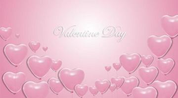 valentijnsdag achtergronden. hart ballon ontwerp 3d. vector illustratie