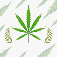 cannabis blad teken