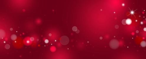 rode bokeh achtergrondontwerp vectorillustratie