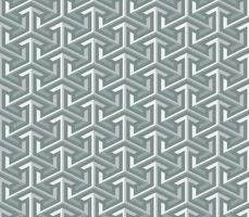 abstracte 3d geometrische achtergrond van het pijl naadloze patroon