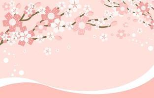abstracte kersenbloesem floral frame achtergrond vector