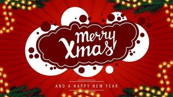 vrolijk kerstfeest, embleem voor uw creativiteit in graffitistijl