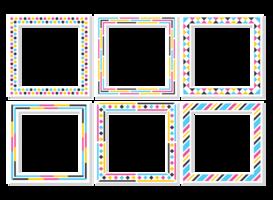 Funky frames vector