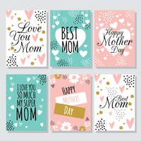 gelukkige moederdagkaart vector