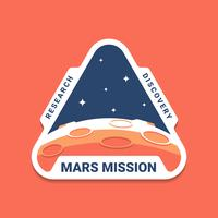 Mars Space Mission Badges Logo Emblemen