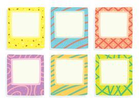 Vierkante Fungky Frames Vector