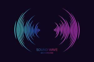 geluidsgolf equalizer geschikt voor poster vector