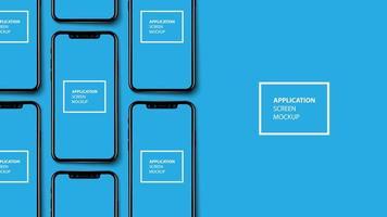 mockup-sjabloon voor smartphone-applicatiescherm vector