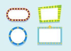 Funky frames vectoren