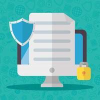 technologie internetbeveiliging plat ontwerp vector