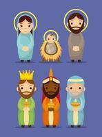 openbaring van jezus tekenset vector