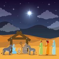 openbaring van jezus scene vector