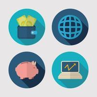 geld en financiën pictogramserie vector