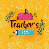 gelukkig lerarendagvieringsontwerp vector