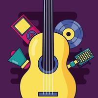 muziek elementen ontwerp vector