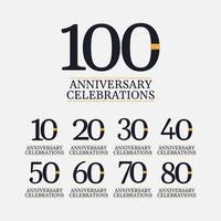 100 jaar jubileumvieringen vector sjabloonontwerp illustratie