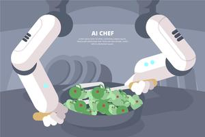 Ai Chef Illustratie vector