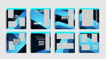 moderne vierkante bewerkte promotiebanners voor posts op sociale media. vector ontwerp illustratie