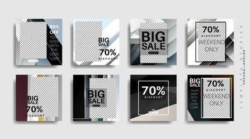 moderne promotie vierkante webbanner voor sociale media. vector ontwerp