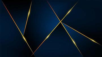 moderne geometrische luxe kaartsjabloon voor zaken of presentatie met gouden lijnen op een donkerblauwe achtergrond vector