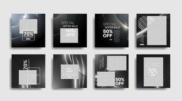 moderne promotie vierkante webbanner voor sociale media. vector ontwerp illustratie