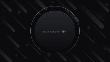 zwarte abstracte minimalistische achtergrond met donkere een geometrische vorm. moderne ontwerpdecoratie geweven luxe gradiënt geometrische elementen vector