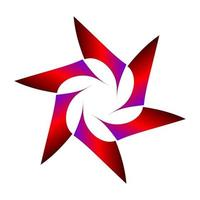 gearceerd geometrisch stersymbool in roodpaarse kleur