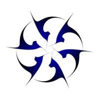 symmetrisch cirkelvormig creatief ontwerp in donkerblauw